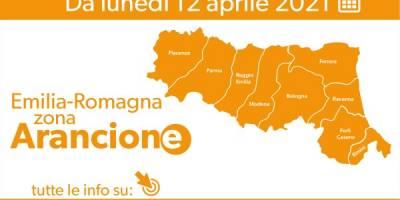 L'Emilia Romagna in zona arancione da lunedì 12 aprile