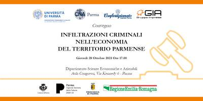 """28 ottobre: il convegno """"Infiltrazioni criminali nell'economia parmense"""""""